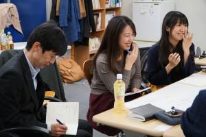 受講生どうしでの振り返りも、会話のボキャブラリーを増やすチャンスでした。